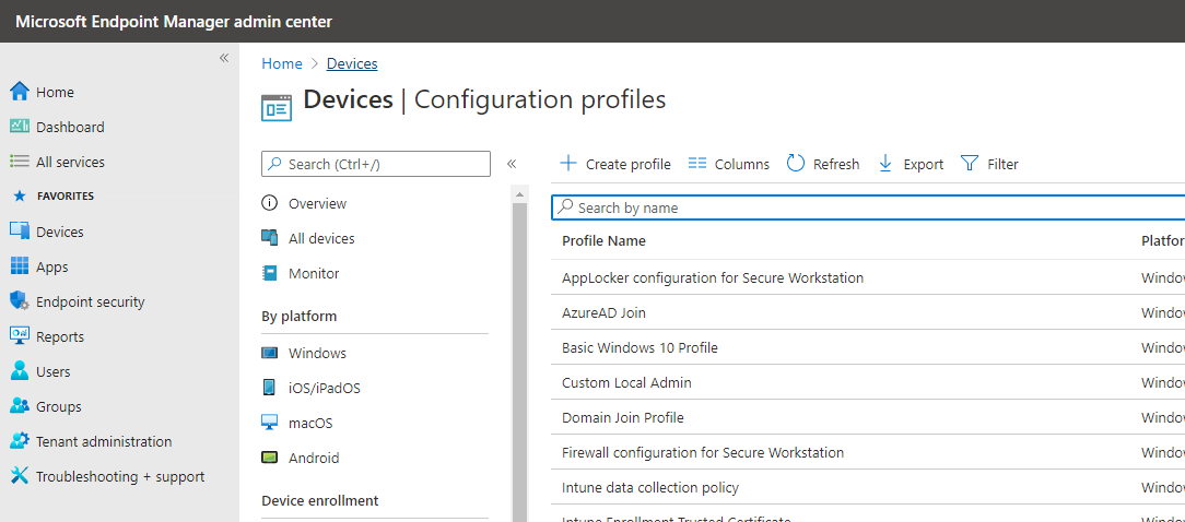 Add Azure User to Local Admin Group with Endpoint Management